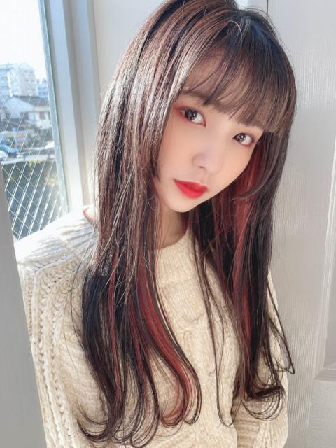 インナーハイライト×姫カット